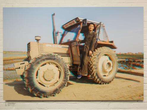 RI SANG GWAN, 37, Tractor Driver, Tongbong Farm.