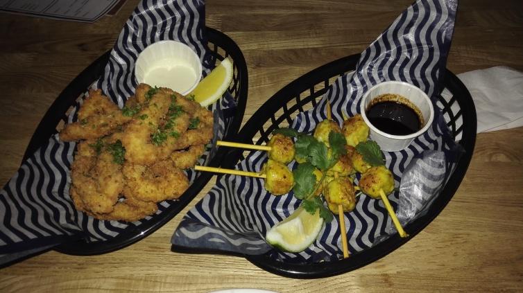 Fiery Seabass Chuan'r [Balinese Style Lemongrass & Turmeric Fish Skewers, Spicy Kecap Manis Sambal, Coriander, Lime]