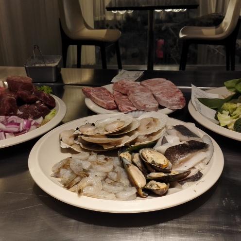 Seafood platters.