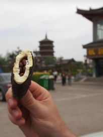 What appeared to be a regular Nogger-like ice cream stick with chocolate lentils inside turned out to be a nogger ice cream stick with a core of actual brown lentils. Thank you China.