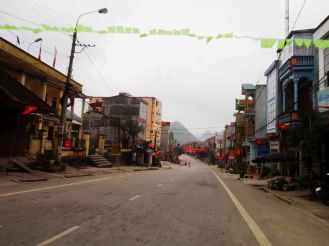 The small town of Tam Son, the first village after the Quan Ba Pass on the way from Ha Giang to Meo Vac.