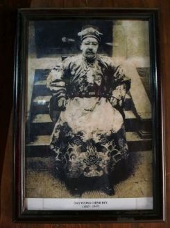 The Vuong family was led by Vuong Chinh Duc. He ruled from 1865-1947 in an empire stretching as far as from the province's Dong Van Plateau to Meo Vac Town. The massive production and cross-border trade of opium back then made him the richest and most powerful man in the area. And to protect his reign, that's when he built the Vuong Palace. Covering an area of 1,120 square meters in Sa Phin Commune, Dong Van District, the mansion was designed with Chinese architecture and interior and surrounded by 700 century-old trees to keep it hidden and protected from enemies.
