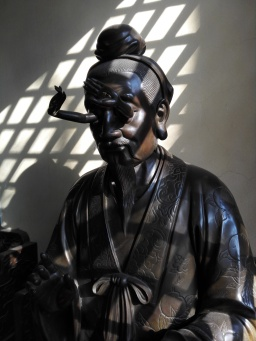 One of the bronze statues in the deity hall.